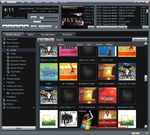 Ảnh chụp màn hình Winamp cho Windows 7