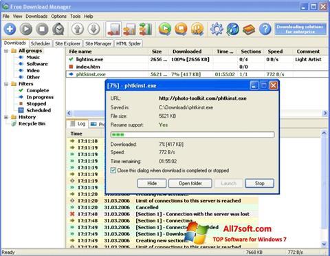 Ảnh chụp màn hình Download Master cho Windows 7
