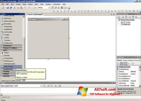 Ảnh chụp màn hình Microsoft Visual Studio Express cho Windows 7