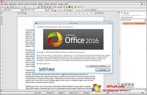 Ảnh chụp màn hình SoftMaker Office cho Windows 7