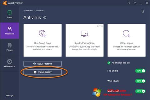 Ảnh chụp màn hình Avast cho Windows 7