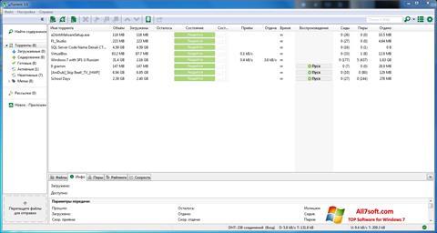Ảnh chụp màn hình uTorrent cho Windows 7