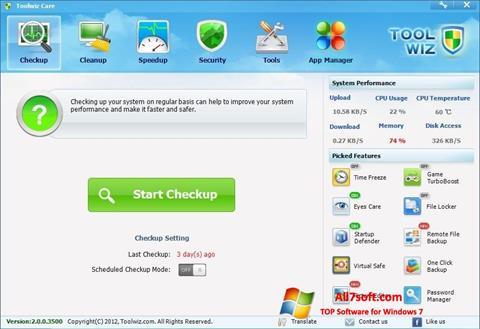Ảnh chụp màn hình Toolwiz Care cho Windows 7