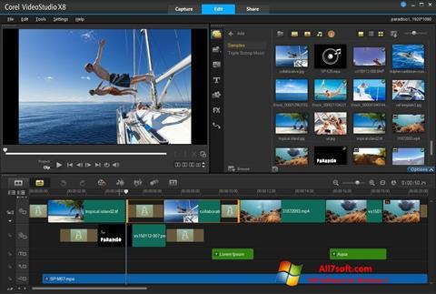 Ảnh chụp màn hình Corel VideoStudio cho Windows 7