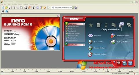 Ảnh chụp màn hình Nero Burning ROM cho Windows 7