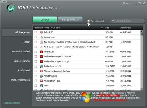 Ảnh chụp màn hình IObit Uninstaller cho Windows 7