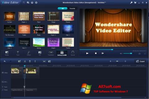 Ảnh chụp màn hình Wondershare Video Editor cho Windows 7
