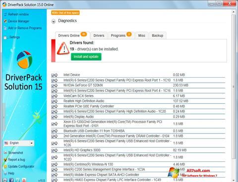 Ảnh chụp màn hình DriverPack Solution cho Windows 7