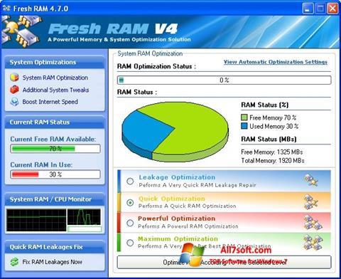 Ảnh chụp màn hình Fresh RAM cho Windows 7
