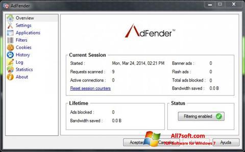 Ảnh chụp màn hình AdFender cho Windows 7