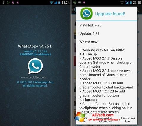 Ảnh chụp màn hình WhatsApp Plus cho Windows 7