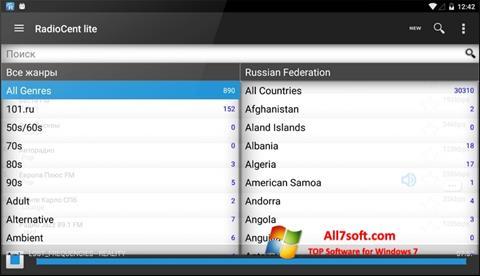 Ảnh chụp màn hình Radiocent cho Windows 7