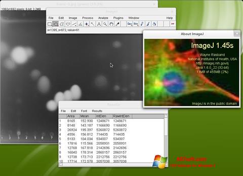 Ảnh chụp màn hình ImageJ cho Windows 7
