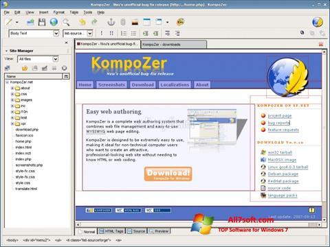 Ảnh chụp màn hình KompoZer cho Windows 7