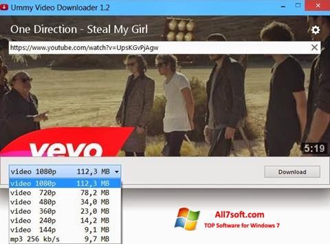 Ảnh chụp màn hình Ummy Video Downloader cho Windows 7