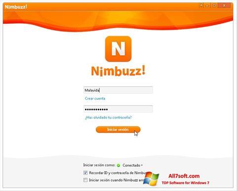 Ảnh chụp màn hình Nimbuzz cho Windows 7