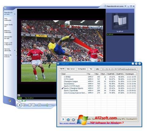 Ảnh chụp màn hình SopCast cho Windows 7