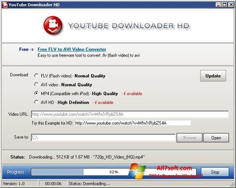 Ảnh chụp màn hình Youtube Downloader HD cho Windows 7