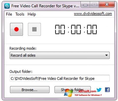 Ảnh chụp màn hình Free Video Call Recorder for Skype cho Windows 7
