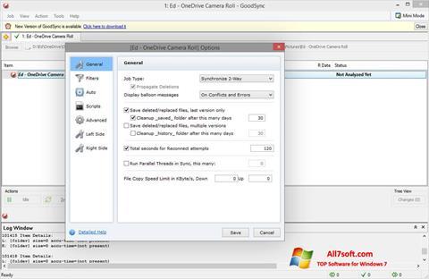 Ảnh chụp màn hình GoodSync cho Windows 7