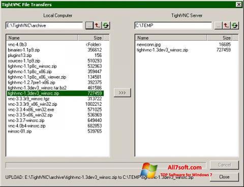 Ảnh chụp màn hình TightVNC cho Windows 7