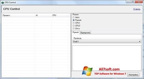 Ảnh chụp màn hình CPU-Control cho Windows 7