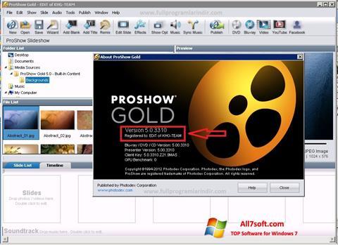 Ảnh chụp màn hình ProShow Gold cho Windows 7