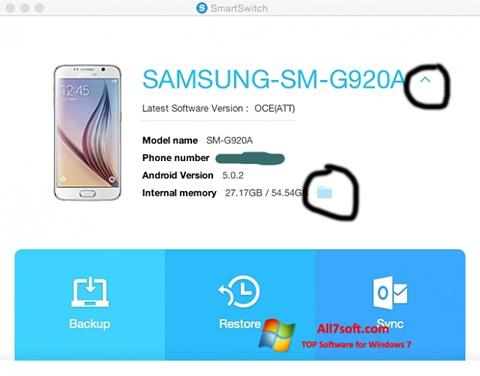 Ảnh chụp màn hình Samsung Smart Switch cho Windows 7