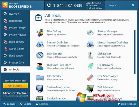 Ảnh chụp màn hình Auslogics BoostSpeed cho Windows 7