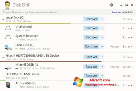 Ảnh chụp màn hình Disk Drill cho Windows 7