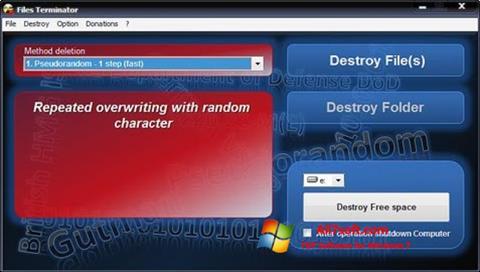 Ảnh chụp màn hình Files Terminator cho Windows 7