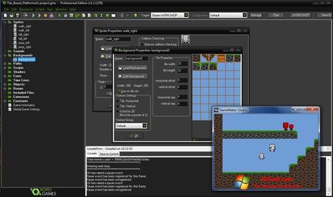Ảnh chụp màn hình GameMaker: Studio cho Windows 7