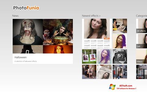 Ảnh chụp màn hình PhotoFunia cho Windows 7