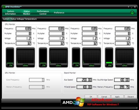 Ảnh chụp màn hình AMD Overdrive cho Windows 7