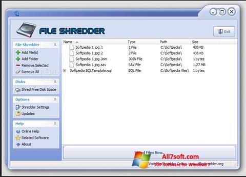 Ảnh chụp màn hình File Shredder cho Windows 7