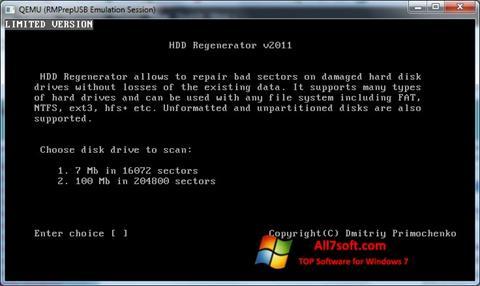 Ảnh chụp màn hình HDD Regenerator cho Windows 7