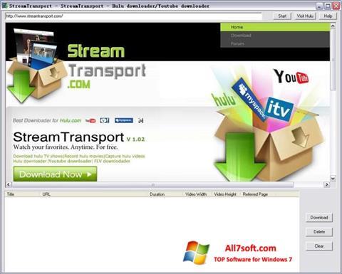 Ảnh chụp màn hình StreamTransport cho Windows 7