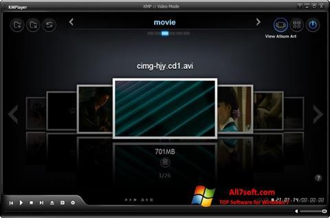 Ảnh chụp màn hình KMPlayer cho Windows 7