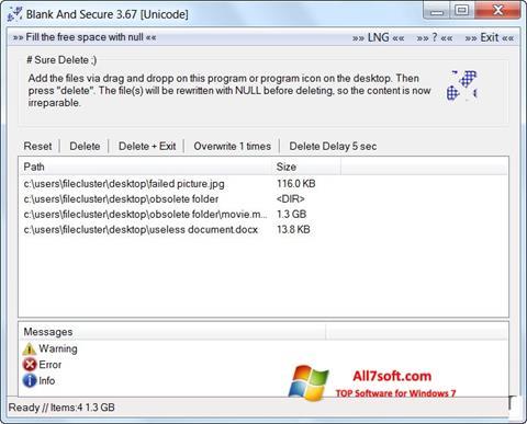 Ảnh chụp màn hình Blank And Secure cho Windows 7